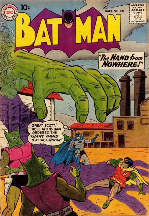 Body Part Disembodied–Hand-Luthor-Batman #130 (1960)