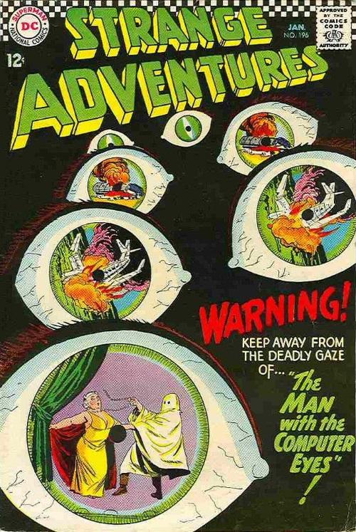 Body Part Enhanced Eyes-Strange Adventures #196 (1967)