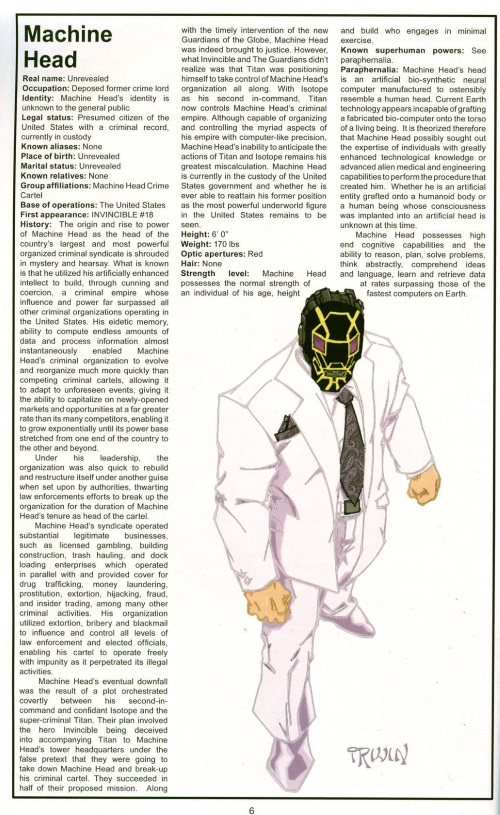 Body Part Enhanced-Head-Machine Head-The Official Handbook of the Invincible Universe #2 (Image)