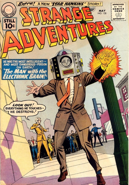 Body Part Enhanced Head–Strange Adventures #128 (1961)