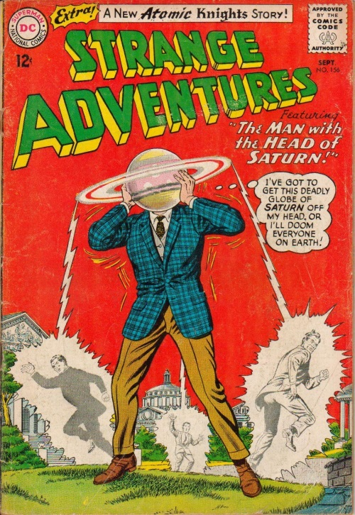 Body Part Enhanced Head–Strange Adventures #156 (1963)