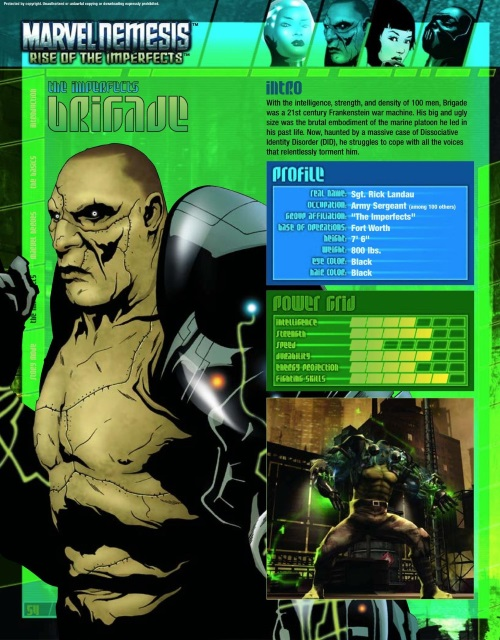 Body Part Substitution (others)-Brigade-Marvel Nemesis - Rise of The Imperfects Official Game Guide-55