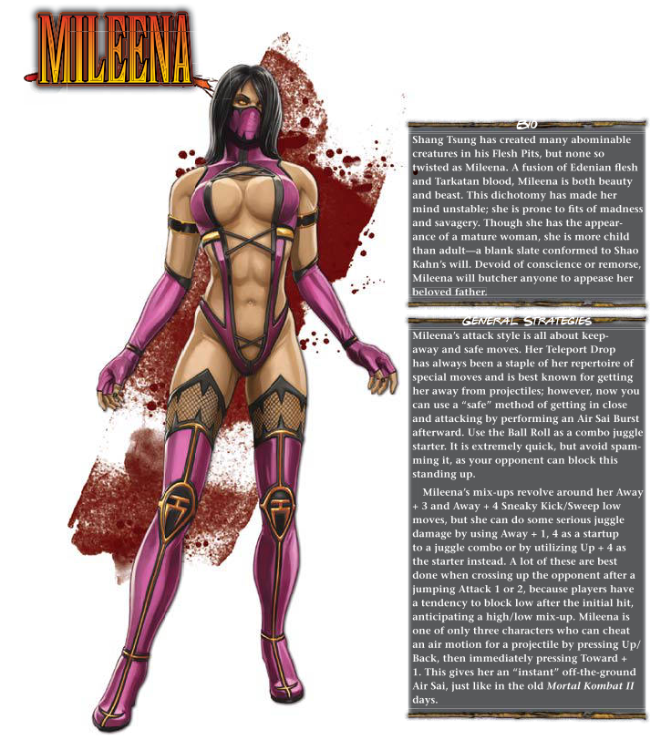 Body Part Substitution (others)-Milenna-Mortal Kombat 9 (2011) Prima Guide