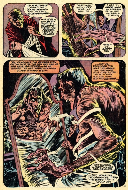 Body Part Substitution (others)–Patchwork Man-Swamp Thing V1 #3 (1973)-16
