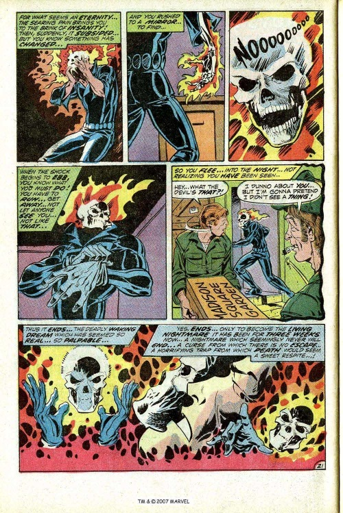 Bone Mimicry–Ghost Rider-Marvel Spotlight on Ghost Rider #5
