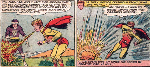Breath (fire)-Fire Lad (DC)