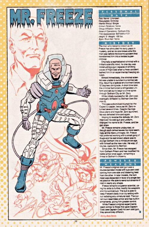 Cold Manipulation-Mr. Freeze-Who's Who #15 (DC)
