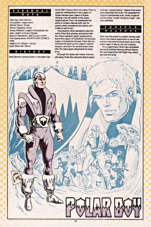 Cold Manipulation-Polar Boy-Who's Who #18 (DC)