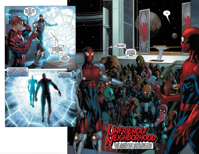 Cross Dimensional Manipulation-Galactic Alliance of Spider-Men-Marvel Comics Presents V2 #1