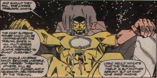 Cross Dimensional Manipulation–Living Tribunal