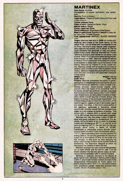 Crystal Mimicry-Martinex-Official Handbook of the Marvel Universe V1 #7