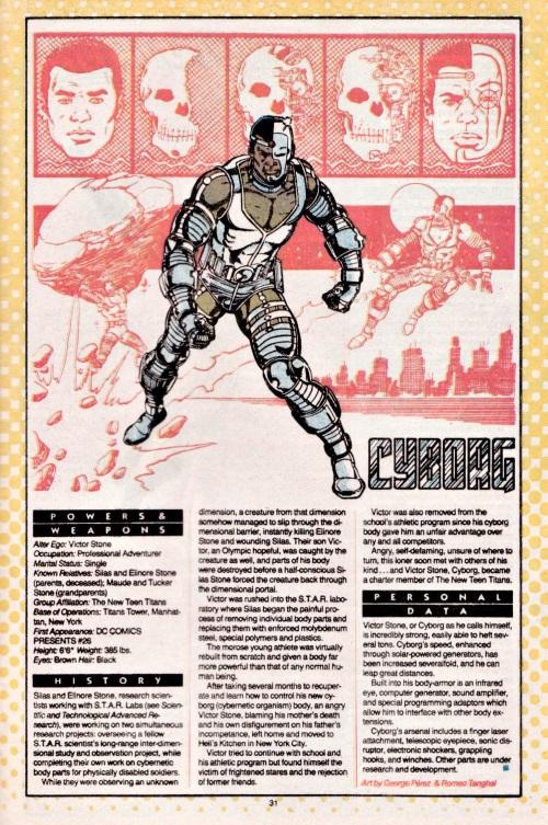 Cyborgization-Cyborg-DC Who's Who V1 #5 (DC)