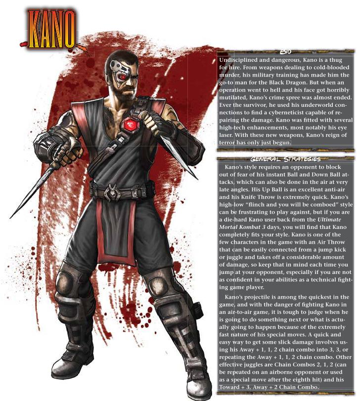 Cyborgization-Kano-Mortal Kombat 9 (2011) Prima Guide