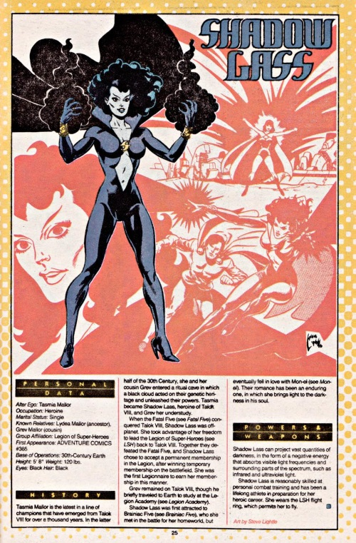 Darkness Manipulation-Shadow Lass-DC Who's Who V1 #20