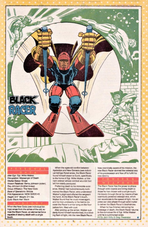 Death Touch-Black Racer-DC Who's Who #3