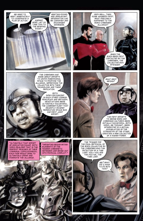 Dimensional Transport (Omniverse)-Star Trek TNG Doctor Who - Assimilation #6 (2012)-11