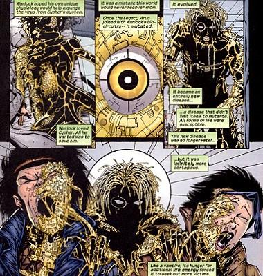 Disease Manipulation–transmode virus-Warlock-Uncanny X-Men V1 #300