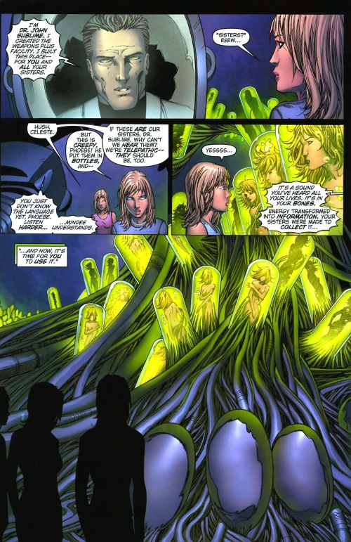 Duplication (cloning)-Stepford Cuckoos-X-Men - Phoenix Warsong #3