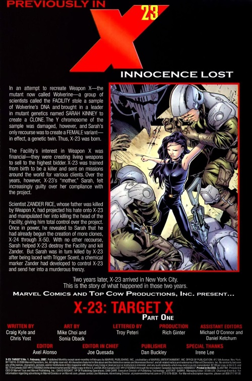 Duplication (gender)–X-23-Target X #1