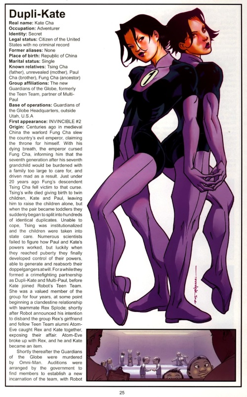 Duplication (self)-Dupli Kate-The Official Handbook of the Invincible Universe #1 (Image)