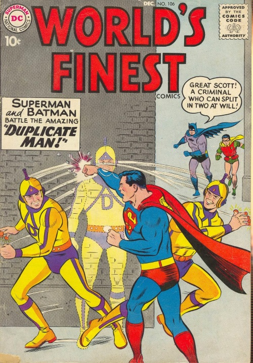 Duplication (self)–Duplicate Man (DC)-World's Finest V1 #106