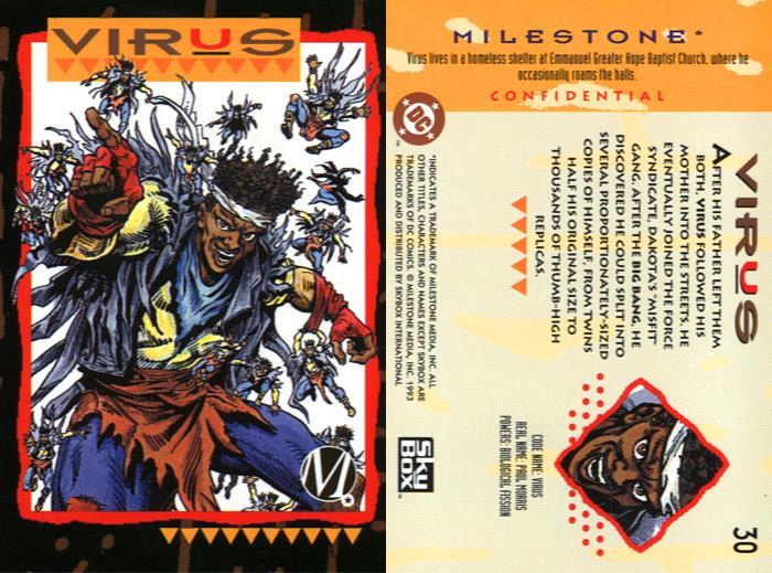 Duplication (size)-Virus-Milestone Media Universe Card Set