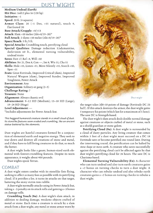 earth-manipulation-dust-wight-dd-3-5-monster-manual-iii