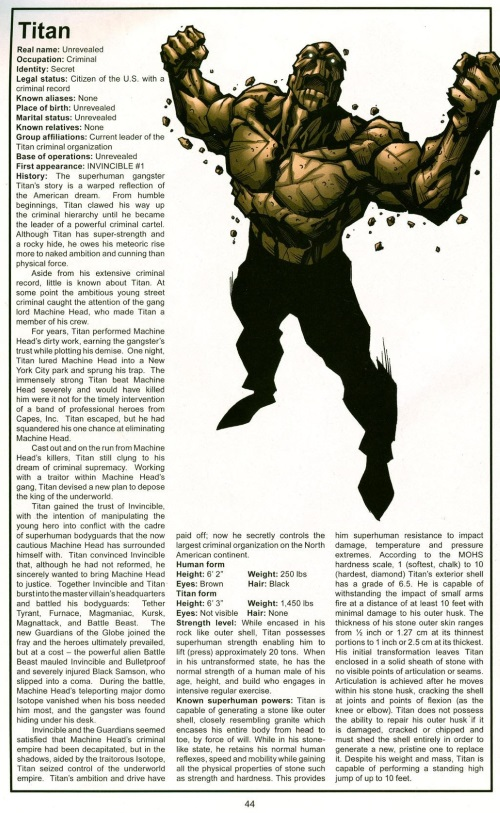 Earth Manipulation-Titan-The Official Handbook of the Invincible Universe #2 (Image)