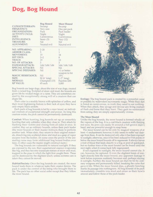 earth-mimicry-bog-hound-tsr-2158-monstrous-compendium-annual-volume-2