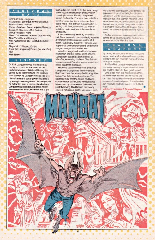 Echolocation–Man-Bat-DC Who's Who V1 #14
