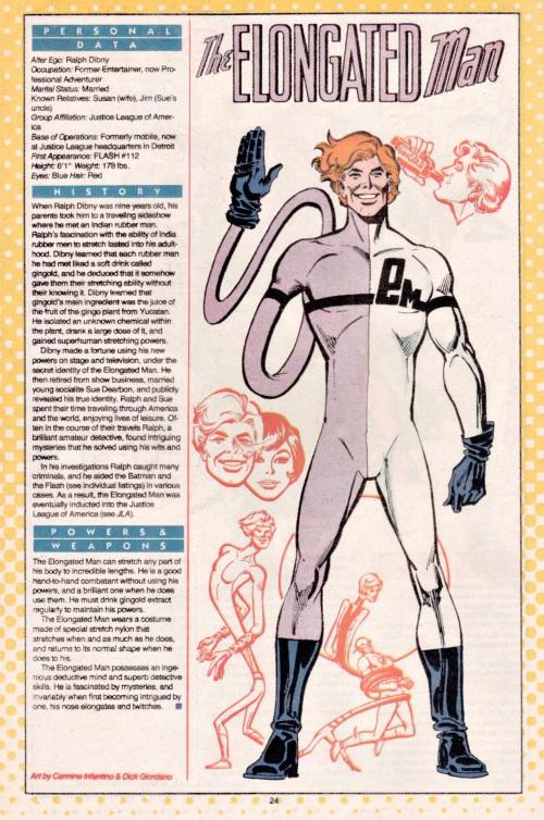 Elasticity-Elongated Man-DC Who's Who V1 #7