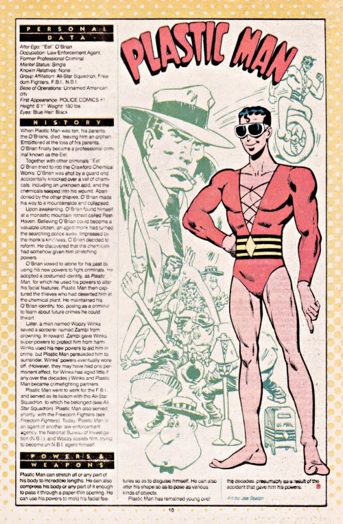 Elasticity–Plastic Man-DC Who's Who V1 #18