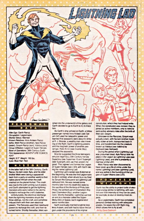 Electric Manipulation-Lightining Lad-DC Who's Who V1 #13
