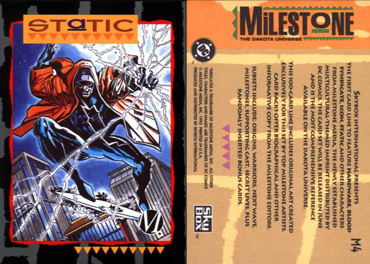 Electrical Manipulation-Static-Milestone Media Universe Card Set
