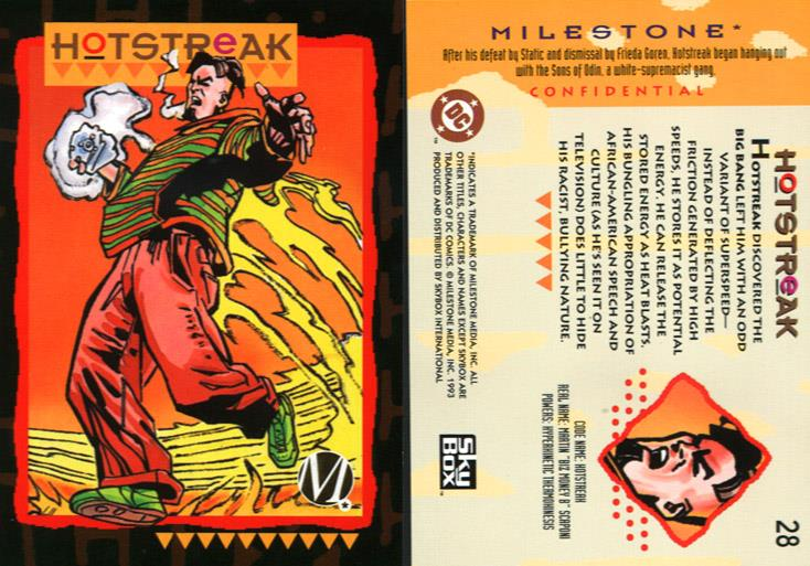 Energy Conversion-Hotstreak-Milestone Media Universe Card Set