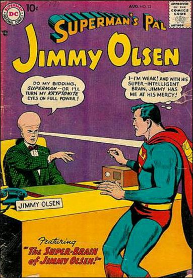 Evolution Manipulation (self)–Giant Head-Jimmy Olsen V1 #22