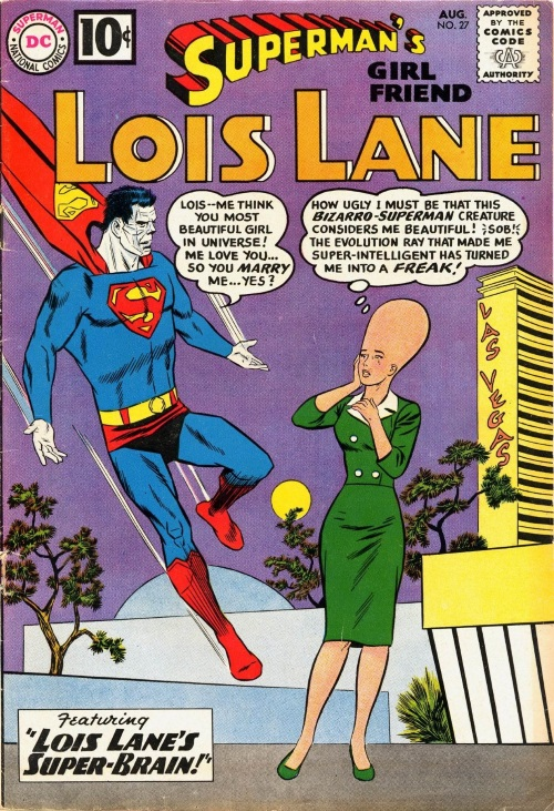 Evolution Manipulation (self)–Giant Head-Lois Lane-Superman's Girl Friend #27 (1961)