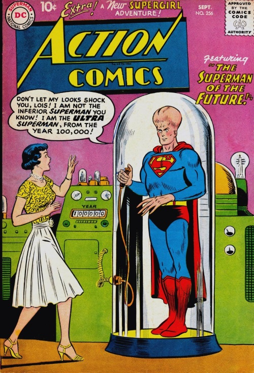 Evolution Manipulation (self)–Giant Head-Superman-Action Comics V1 #256