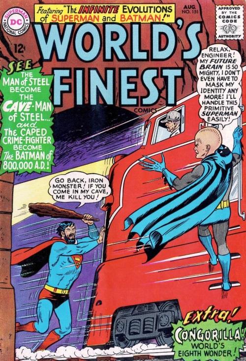 Evolution Manipulation (self)–Giant Head-World's Finest Comics V1 #151