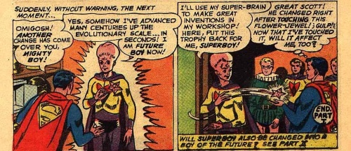 Evolution Manipulation (self)–Mighty Boy - Superboy V1 #85