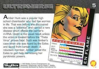 Fire Manipulation-1993 SkyBox Ultraverse-5Bk En Flame