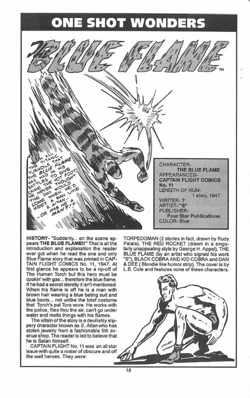 Fire Manipulation-Blue Flame-Official Golden-Age Hero and Heroine Directory #1