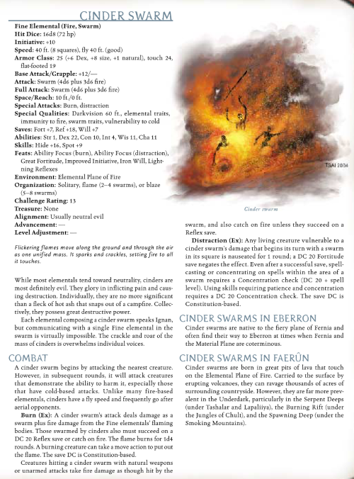 fire-mimicry-cinder-swarm-dd-3-5-monster-manual-iii