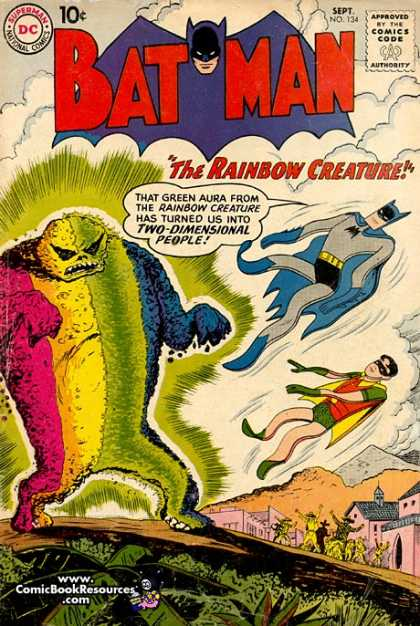 Flat Body (other)-Rainbow Creature-Batman V1 #134