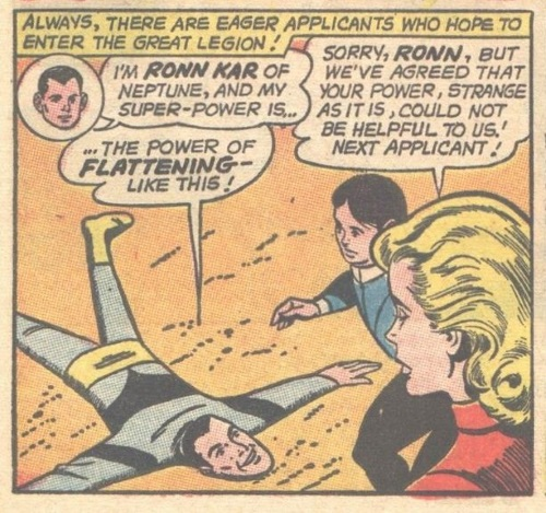 Flat Body (self)-Ronn Kar-Legion of Super-Heroes V1 #314 (1963)