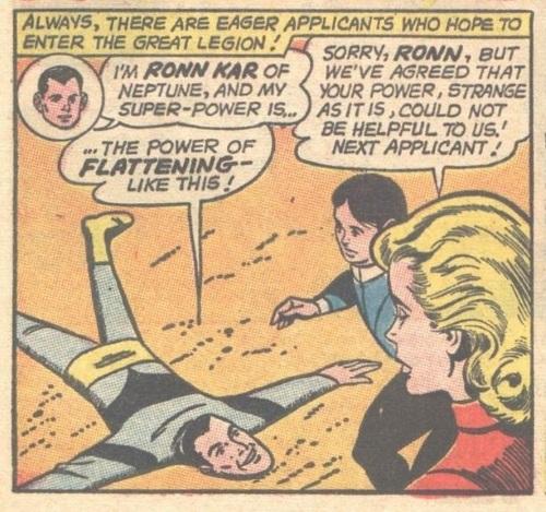 Flat Body (self)-Ronn Kar-Legion of Super-Heroes V1 #314 (1963)