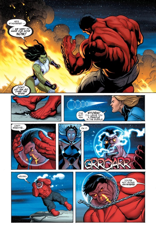 Force Field Generation-Invisible Woman-Hulk V2 #9 (2009)