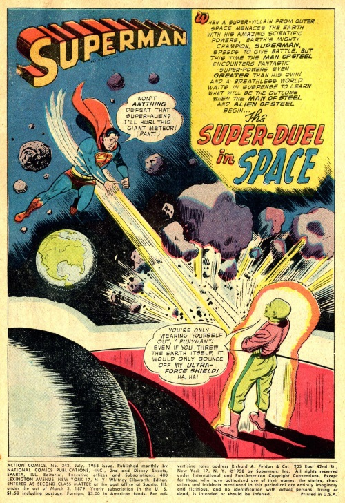 Force Field Generation–Brainiac vs Superman-Action Comics #242 (1958)