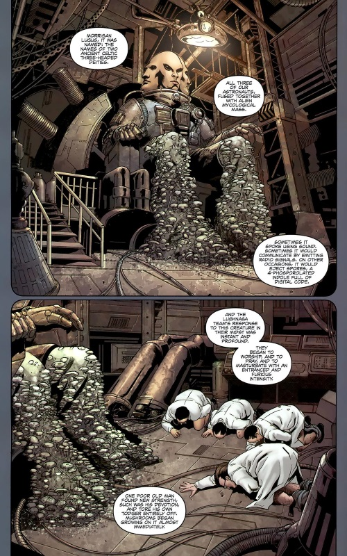 Fungi Mimicry–Warren Ellis' Supergod #1