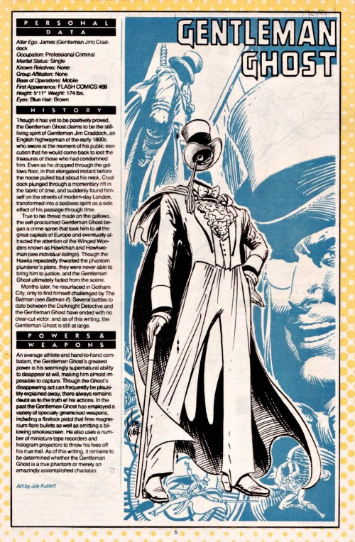 Ghost Mimicry-Gentleman Ghost-DC Who's Who V1 #9